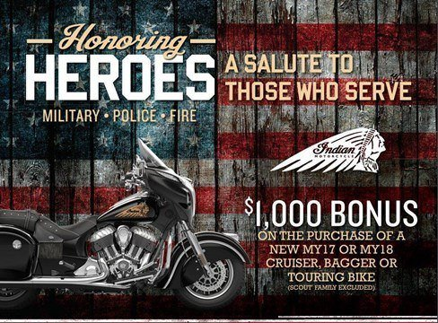 Indian - Honoring Heroes Heavyweight Offer